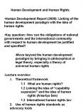 Human Development and Human Rights PowerPoint PPT Presentation