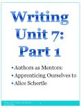 Authors as Mentors PowerPoint PPT Presentation