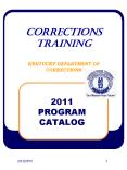 CORRECTIONS TRAINING KENTUCKY DEPARTMENT OF CORRECTIONS PowerPoint PPT Presentation