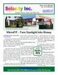 Solacity Inc. Ontario MicroFIT Program Information Brochure PowerPoint PPT Presentation