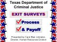 Texas Department of Criminal Justice PowerPoint PPT Presentation