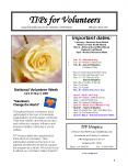 TIPs for Volunteers A quarterly publication for the Volunteers of TIP Hospice               February- April 2008 PowerPoint PPT Presentation