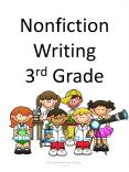 Nonfiction Writing 3rd Grade PowerPoint PPT Presentation