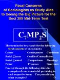 Focal Concerns of Sociologists as Study Aids to Seeing the Big Picture for the Soci 309 Mid-Term Test PowerPoint PPT Presentation