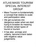 ATLAS MASS TOURISM SPECIAL INTEREST GROUP PowerPoint PPT Presentation