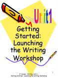 Getting Started: Launching the Writing Workshop PowerPoint PPT Presentation