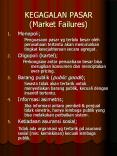 KEGAGALAN PASAR (Market Failures) PowerPoint PPT Presentation