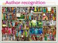 Author recognition PowerPoint PPT Presentation