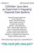 CDAWeb  Java client: an Experiment in Integrating Disparate Data Systems PowerPoint PPT Presentation