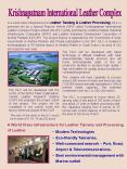 Krishnapatnam International Leather Complex PowerPoint PPT Presentation
