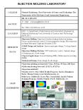 INJECTION MOLDING LABORATORY PowerPoint PPT Presentation