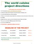 The world cuisine project directions PowerPoint PPT Presentation