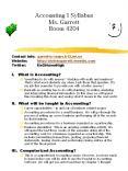Accounting I Syllabus Ms. Garrett Room 4204 PowerPoint PPT Presentation