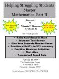 Helping Struggling Students Master Mathematics Part II PowerPoint PPT Presentation