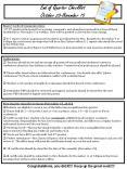 End of Quarter Checklist October 28-November 15 PowerPoint PPT Presentation