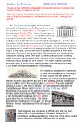 The Greeks were among the most talented                          architects of the ancient world. They built their most                          famous structure, the Parthenon, during the rule of PowerPoint PPT Presentation