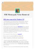 FBI Moneypak virus removal- isupport365 PowerPoint PPT Presentation