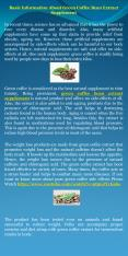 Basic Information About Green Coffee Bean Extract Supplement PowerPoint PPT Presentation