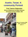 Austin, Texas: A community Portrait PowerPoint PPT Presentation