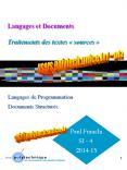 Langages et Documents  Traitements des textes  PowerPoint PPT Presentation