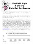 The Fort Mill High School Baseball Team is doing a Pink Out to support Cancer. This event will be held at the Fort Mill High baseball game against Gaffney High School on April 16, 2010 at 6:00pm. PowerPoint PPT Presentation