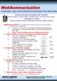 WebSummarization is a system for extracting the most important images from a Web site PowerPoint PPT Presentation