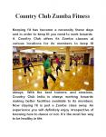 Country Club Zumba Fitness PowerPoint PPT Presentation