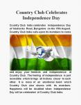 Country Club Celebrates Independence Day PowerPoint PPT Presentation