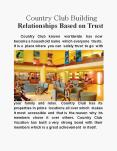 Country Club Building Relationships Based on Trust PowerPoint PPT Presentation