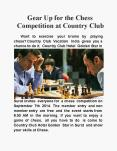 Gear up for the Chess Competition at Country Club PowerPoint PPT Presentation