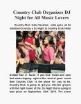 Country Club Organizes DJ Night for All Music Lovers PowerPoint PPT Presentation