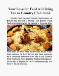 Your love for food will bring you to Country Club India PowerPoint PPT Presentation