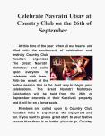 Celebrate Navratri Utsav at Country Club on the 26th of September PowerPoint PPT Presentation