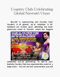 Country Club Celebrating Global Navratri Utsav PowerPoint PPT Presentation