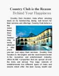 Country Club is the Reason Behind Your Happiness PowerPoint PPT Presentation
