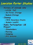 Lewiston Porter Studies PowerPoint PPT Presentation