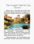 The Country Club De Goa Resort PowerPoint PPT Presentation
