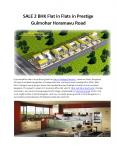 #2BHK Flats for Sale in Prestige Gulmohar Bangalore