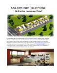 Looking 2BHK flats for sale in Prestige Gulmohar Bangalore