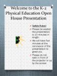 Welcome to the K-2 Physical Education Open House Presentation PowerPoint PPT Presentation