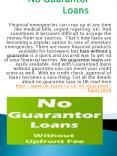 Loans For Bad Credit No Guarantor No Fees PowerPoint PPT Presentation