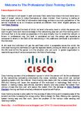 Welcome to The Professional Cisco Training Centre PowerPoint PPT Presentation