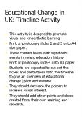 Educational Change in UK: Timeline Activity PowerPoint PPT Presentation