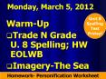 Monday, March 5, 2012 PowerPoint PPT Presentation