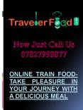 Online train food- Take pleasure in your journey with a delicious meal PowerPoint PPT Presentation