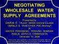 NEGOTIATING  WHOLESALE  WATER  SUPPLY  AGREEMENTS PowerPoint PPT Presentation