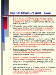 Capital Structure and Taxes PowerPoint PPT Presentation