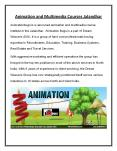 Multimedia and Animation Courses PowerPoint PPT Presentation