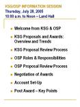 KSG/OSP INFORMATION SESSION Thursday, July 28, 2005 10:00 a.m. to Noon  PowerPoint PPT Presentation