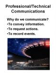Professional/Technical Communications PowerPoint PPT Presentation